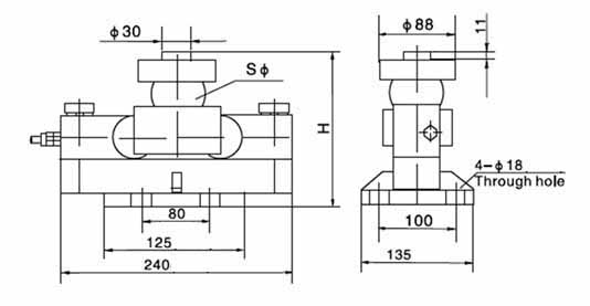 Chiều cao lắp đặt Loadcell Zemic HM9B 10~40tSE