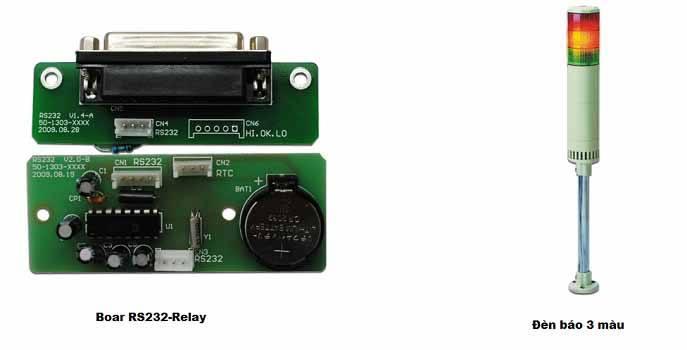 Board RS232-Relay và Đèn báo 3 màu