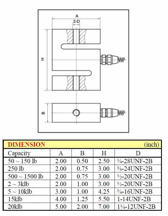 """Kích thước lắp đặt Loadell chữ """"Z"""" VLC-110 / VLC-110S"""