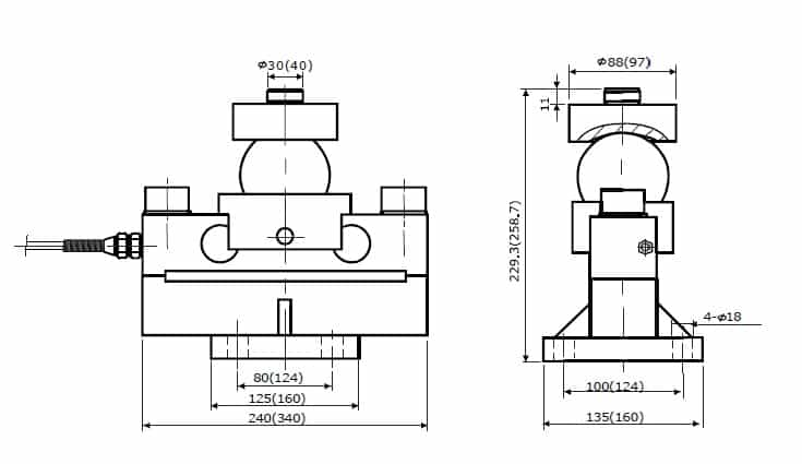 Chiều cao lắp đặt Loadcell USCells MFG