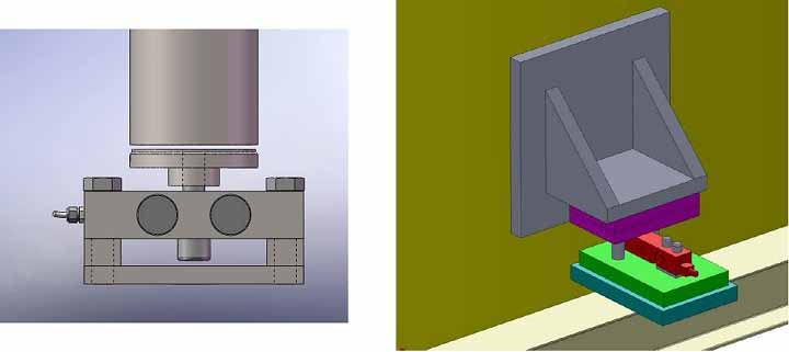 Mô hình mô đun lắp đặt cân bồn dạng nén