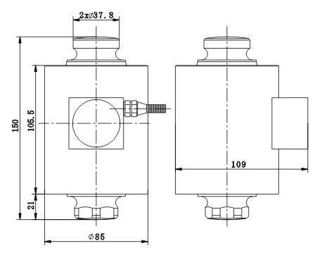 Kích thước thân Load cells ZSNC-A