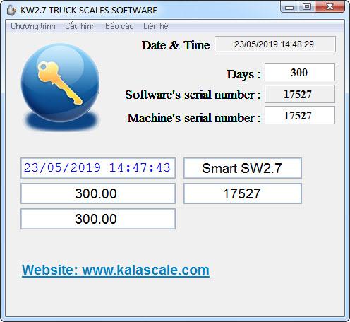 Phần mềm cân xe KWS2.7 - Thông tin cấu hình