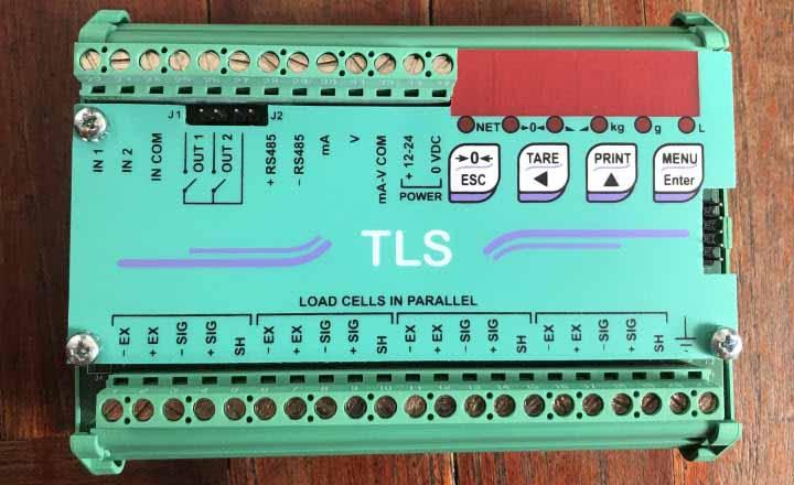 Bộ chuyển đổi tín hiệu trọng lượng cân TLS với đầy đủ ngõ vào/ra.
