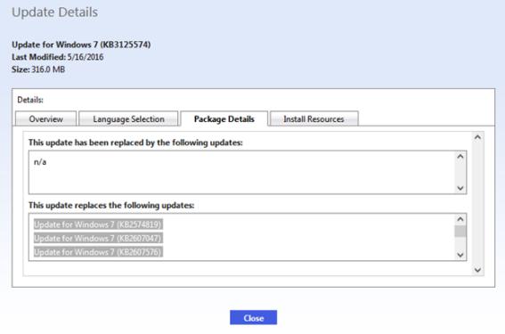 Update Details for Windows 7 (KB3125574)